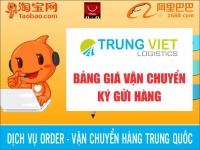 Bảng giá mua hộ ký gửi vận chuyển Trung Quốc - Việt Nam