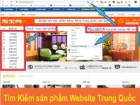 Hướng dẫn tìm kiếm sản phẩm trên 1688 Taobao Tmall