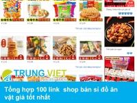 Tổng hợp 100 link  shop bán sỉ đồ ăn vặt giá tốt nhất