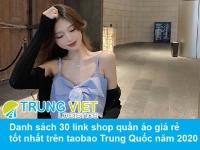 Danh sách 30 link shop quần áo giá rẻ tốt nhất trên taobao Trung Quốc năm 2020